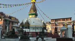 Kathesimbhu stupa,Kathmandu,Nepal Stock Footage