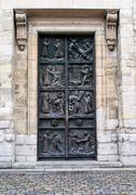 Stock Photo of Entry Doors to Saint Pierre de Montmartre Church