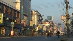 Road and traffic,Kathmandu,Nepal Stock Footage