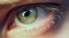 Macro Eye Iris Stock Footage