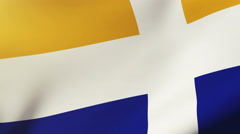 Isles Of Scilly flag waving in the wind. Looping sun rises style.  Animation Stock Footage