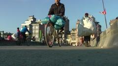 Bridge with traffic,Kathmandu,Nepal Stock Footage