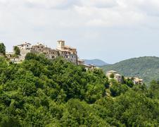Morro Reatino, italian village, landscape at summer - stock photo