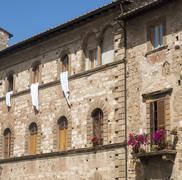 Colle di Val d'Elsa (Tuscany), historic palace Stock Photos