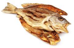Dried Barramundi or Koral fish of Southeast Asia - stock photo