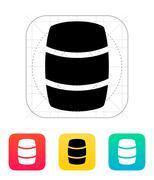 Beer barrel icon - stock illustration
