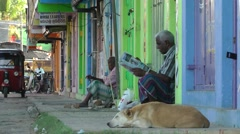 Quiet street,Batticaloa,Sri Lanka Stock Footage