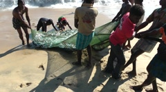 Fisherman fish close to the beach,Batticaloa,Sri Lanka Stock Footage