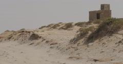 Panning shot of a house on the beach near Nouakchott, Mauritania (4K) Stock Footage
