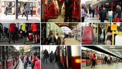 4K montage (compilation) - commuter people travel Stock Footage