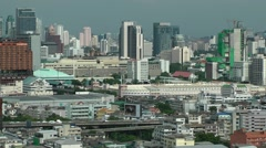 Skyline with traffic,Bangkok,Thailand Stock Footage