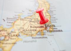 Tokyo map Stock Photos