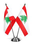 Lebanon - Miniature Flags - stock illustration