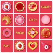 Stock Illustration of illustration of dessert and baked goods