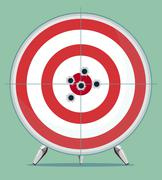 Target with bullet traces in the Center Stock Illustration