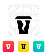 Damaged cup icon Stock Illustration