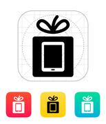 Gift Tablet PC icon Stock Illustration