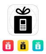 Gift phone icon Stock Illustration