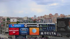 Ballpark Sign Stock Footage