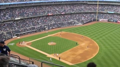 Yankee Stadium from side (1 of 3) Stock Footage
