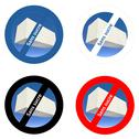 Stock Illustration of French stickers for sugar free products