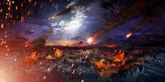 Conceptual photo of the apocalypse Stock Illustration