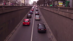 Traffic in Bucharest, Romania Stock Footage