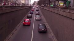 Traffic in Bucharest, Romania - stock footage