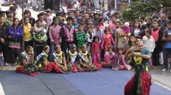 Modern dance,Pokhara,Nepal Stock Footage