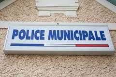 Sign of Municipal police Stock Photos
