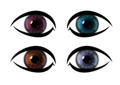 Colour pattern rainbow eye. eye iris textures Stock Illustration