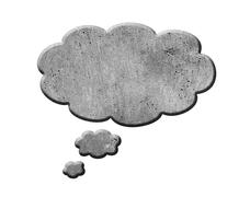 Concrete Speech Bubble - stock illustration