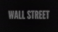 Wall Street name animation Stock Footage