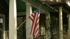 Flag on a house 1 of 4 Stock Footage