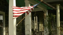 Flag on a house 2 of 4 Stock Footage