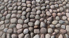 Bridge, the road of cobblestones. Stock Footage