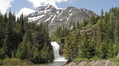 Waterfall in the mountains Stock Footage