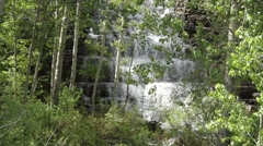 Waterfall in the woods (with audio) - stock footage