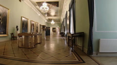 Gorgeous rooms and interiors of the Mikhailovsky Castle in St. Petersburg. Stock Footage