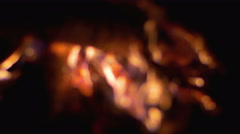 The outdoors fire with sound capture. Heat and powerful flame. Rack focus Stock Footage