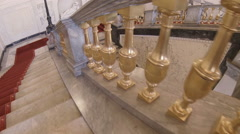 Stock Video Footage of The main staircase in the Mikhailovsky Castle.