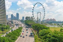 Singapore Flyer giant ferris wheel in Singapore Stock Photos