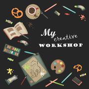Creative set for artist Stock Illustration