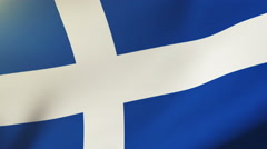 Shetland flag waving in the wind. Looping sun rises style.  Animation loop Stock Footage