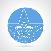 Starfish round vector icon Stock Illustration