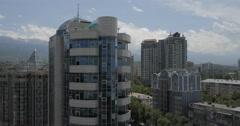Top Office Buildings in Almaty, Kazakhstan (4K) Stock Footage