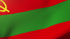Transnistria flag waving in the wind. Looping sun rises style.  Animation loop Stock Footage