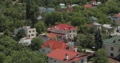Rooftops of Houses & TV Tower in Almaty Kazakhstan(4K) Stock Footage