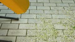 Working garden shredder Stock Footage