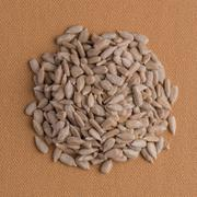 Stock Photo of Circle of shelled sunflower seeds
